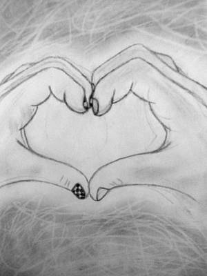 Hands Of Love Drawing - Sign Of Love by Madelyn May