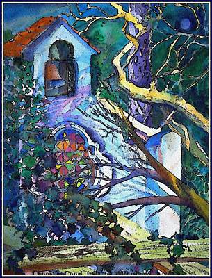 Silence At St. Michel Chapel In Capri Italy Print by Mindy Newman