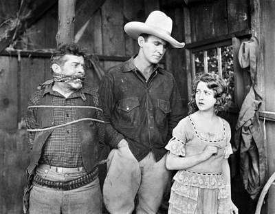 Silent Film: Cowboys Print by Granger