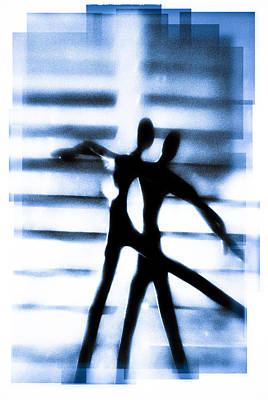 Silhouette Of Dancers Print by David Ridley