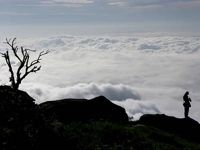 Photograph - Silhouette Photographer With Group Of Clouds And Fogs by Nawarat Namphon