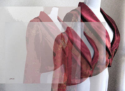 Collage Photograph - Silky Maroons by Gretchen Wrede