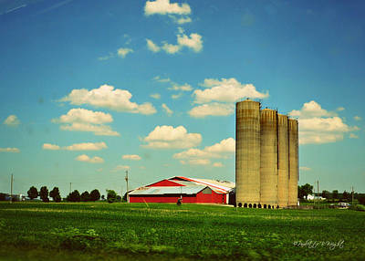 Paulette Wright Digital Art - Silos by Paulette B Wright