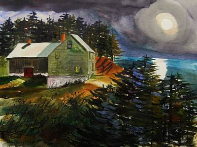 Silver Moon Farm Print by John  Williams