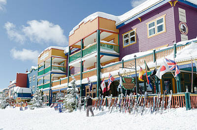 Winter Photograph - Silverstar Colour Silver Star Village Resort Buildings Colors by Andy Smy