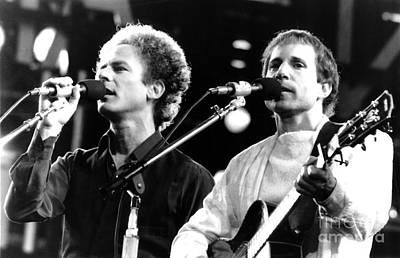 Rock Music Art Photograph - Simon And Garfunkel 1982 by Chris Walter