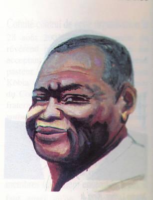 Miraculous Drawing - Simon Kimbangu by Emmanuel Baliyanga
