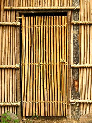 Bamboo House Photograph - Simple Bamboo Door by Yali Shi
