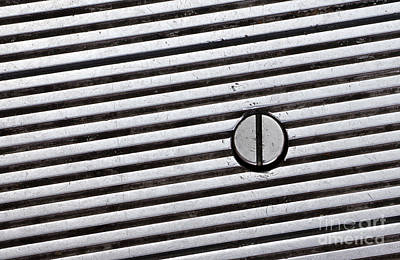 Grate Photograph - Geometry by Dan Holm