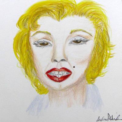Norma Jean Drawing - Simply Marilyn by Barbara Giordano