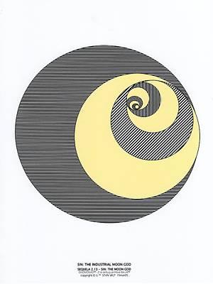 Rationality Digital Art - Sin The Industrial Moon God by Steven Welp