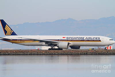 San Francisco Photograph - Singapore Airlines Jet Airplane At San Francisco International Airport Sfo . 7d12145 by Wingsdomain Art and Photography