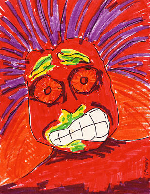 Corey Drawing - Sinusitis by Corey Finney