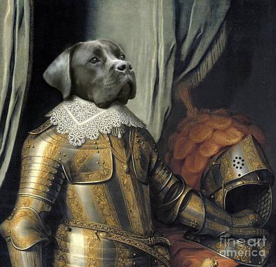 Boxer Digital Art - Sir Dog by Digit Art Mariel Everling