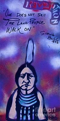Sitting Bull...land Print by Tony B Conscious