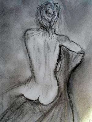 Sitting Print by Mary DeLawder