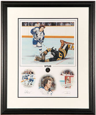 Art Of Hockey Mixed Media - Sittler Limited Edition by Daniel Parry