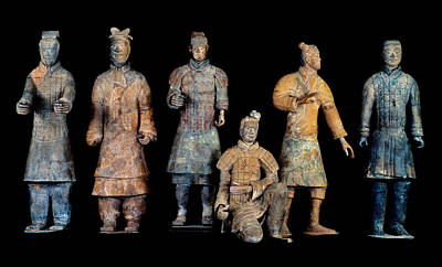 Qin Shi Huang Photograph - Six Types Of Soldiers Were Found Among by O. Louis Mazzatenta