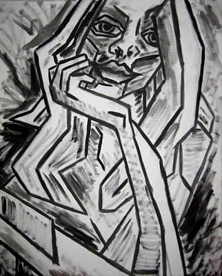 Sketch - Intrigued Print by Kamil Swiatek