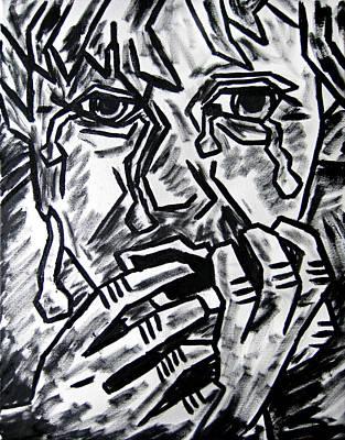 Depression Painting - Sketch - Weeping Child by Kamil Swiatek
