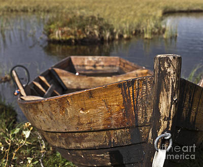 Water Photograph - Skiff In Swedish Swamp by Heiko Koehrer-Wagner