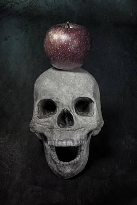 Skull And Apple Print by Joana Kruse