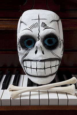 Skull Mask With Bones Print by Garry Gay