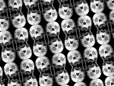 Skull Scope 5 Print by Adam Vance