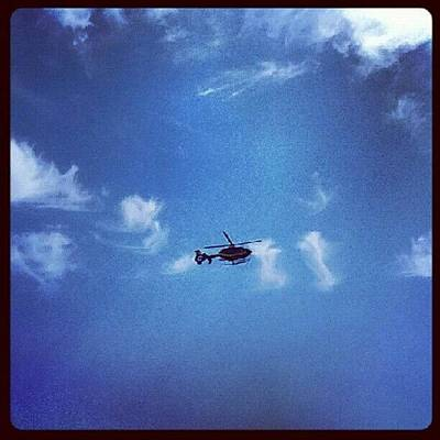 Helicopter Photograph - #sky #clouds #helicopter #instadaily by A I