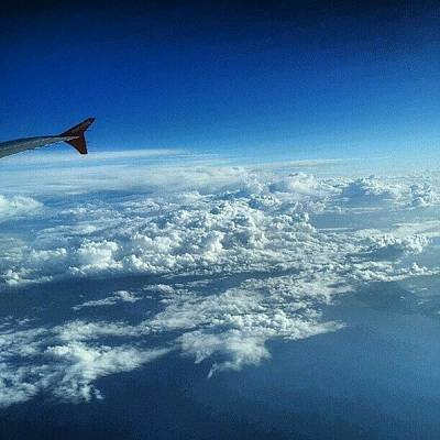 Airplane Photograph - #sky #cloudy On The Way To #jordan by Abdelrahman Alawwad