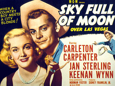 Sterling Photograph - Sky Full Of Moon, Jan Sterling by Everett