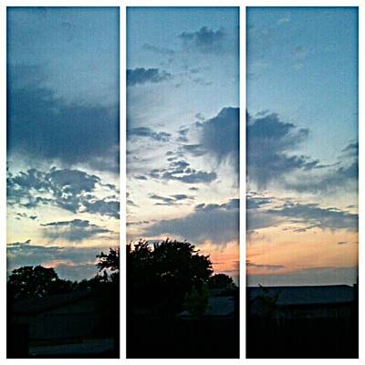 #sky #sunset #clouds #andrography Print by Kel Hill