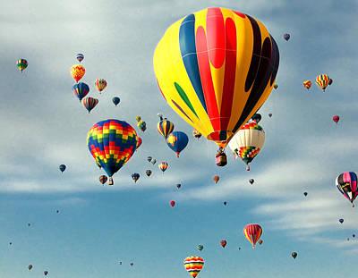 Skyful Of Balloons Print by Joe Myeress