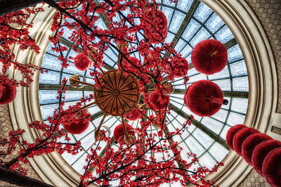 With Red. Photograph - Skylight Serenade by Stephen Campbell