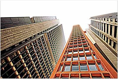 Skyscrapers Print by Luiz Felipe Castro