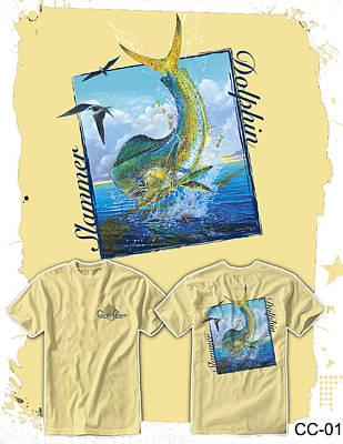 West Marine Digital Art - Slammer Dolphin by Carey Chen