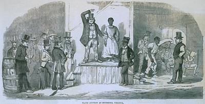 Slave Auction In Richmond, Virginia Print by Everett