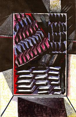 Slots Backstage Drop Print by Al Goldfarb