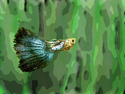 Graphic Digital Art - Small Fish Art by Mario Perez