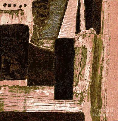 Salmon Mixed Media - Small Garden Abstract by Marsha Heiken