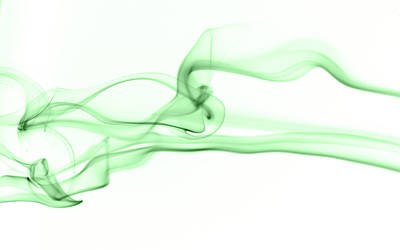 Smoke Abstract Green Original by Catherine Lau