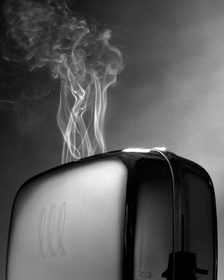Toaster Photograph - Smoke Coming Out Of A Toaster by John Manno