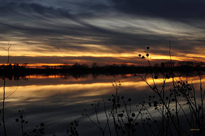 Smoke On The Water Fire In The Sky Print by Michael Knight