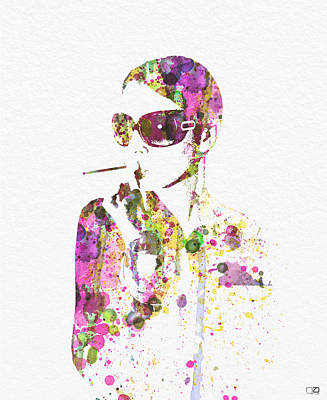 Smoking In The Sun Print by Naxart Studio