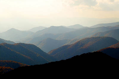 Smoky Mountain Overlook Great Smoky Mountains Print by Rich Franco
