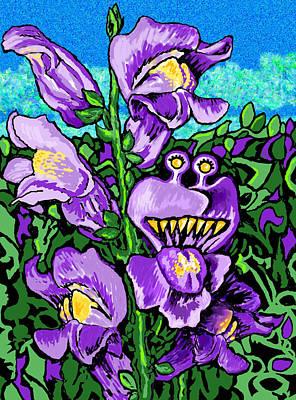 Snap Dragons Talk Print by Robin Jensen
