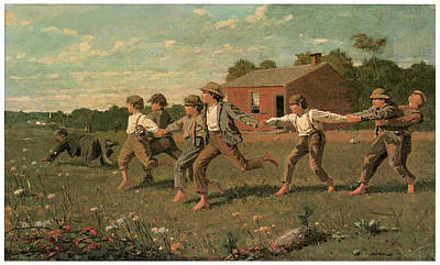 Snap The Whip Print by Winslow Homer