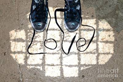 Love Laces Photograph - Sneaker Love 1 by Paul Ward