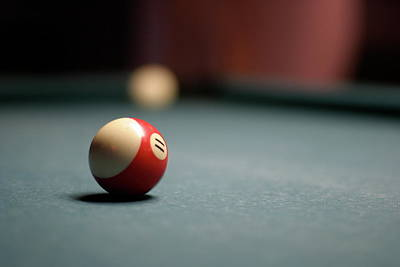 Snooker Ball Print by Photo by Andrew B. Wertheimer
