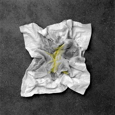 Snotty Tissue Print by Kevin Curtis